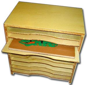 Cabinet for Nature Puzzles (CM141) Puzzles Montessori, Materials, Supplier, Supply  ~ D'Argosy Educational Equipment (M) Sdn Bhd