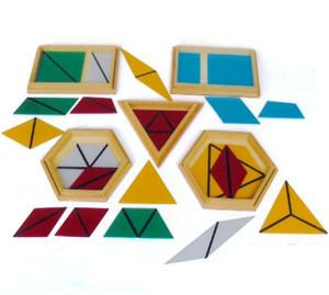 Constructive Triangles (SM170) Sensorial Montessori, Materials, Supplier, Supply  ~ D'Argosy Educational Equipment (M) Sdn Bhd