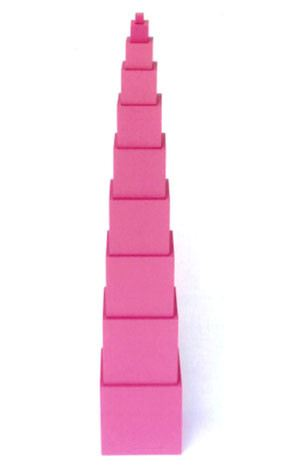 Pink Tower (SM010-A) Sensorial Montessori, Materials, Supplier, Supply  ~ D'Argosy Educational Equipment (M) Sdn Bhd