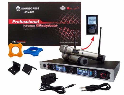 SOUNDCREST 2 CHANNEL UHF WIRELESS MICROPHONE (SCM-U38)