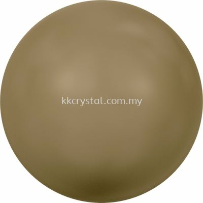 SW 5810 Crystal Round Pearl, 06mm, Crystal Antique Brass Pearl (001 402), 100pcs/pack