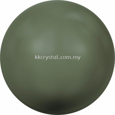 SW 5810 Crystal Round Pearl, 06mm, Crystal Dark Green Pearl (001 814), 100pcs/pack