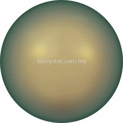 Swarovski 5810 Crystal Round Pearl, 08mm, Crystal Iridescent Green PRL (001 930), 50pcs/pack