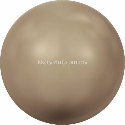 Swarovski 5810 Crystal Round Pearl, 10mm, Crystal Bronze Pearl (001 295), 50pcs/pack