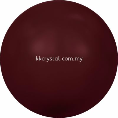 Swarovski 5810 Crystal Round Pearl, 10mm, Crystal Bordeaux Pearl (001 538), 50pcs/pack