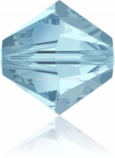 Swarovski 5328 XILION BEAD, 06MM, Aquamarine (202), 10pcs/pack