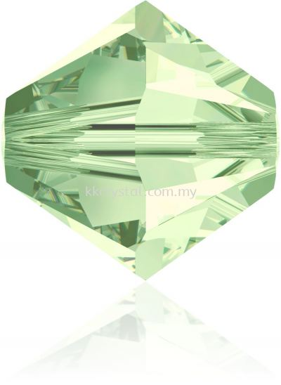 Swarovski 5328 XILION BEAD, 08MM, Chrysolite (238), 4pcs/pack