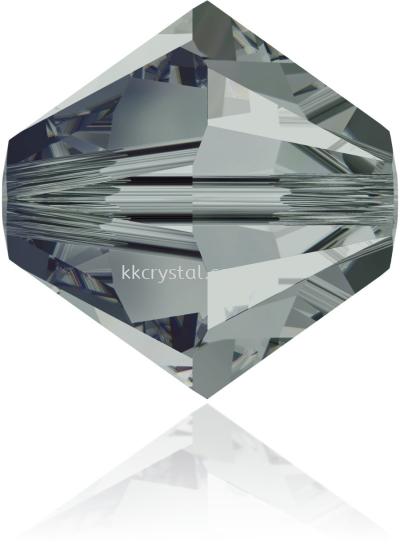 Swarovski 5328 XILION BEAD, 08MM, Black Diamond (215), 4pcs/pack