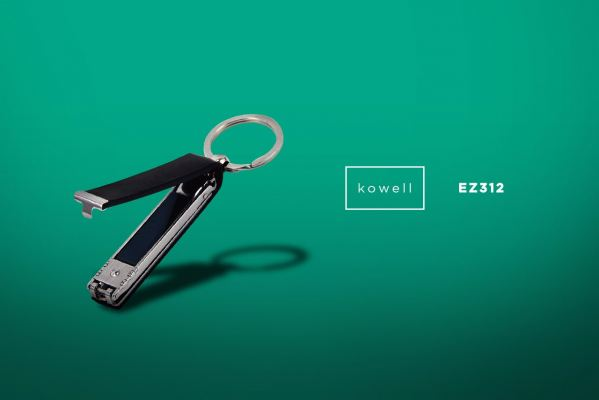EZ312 Kowell Leather Nail Clipper w/key holder