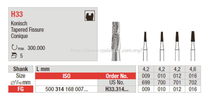 H33 Tungsten Carbide Bur
