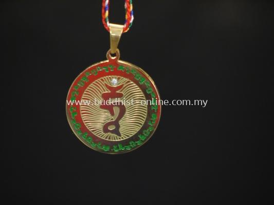 鍍金綠度母吊牌(H0170)