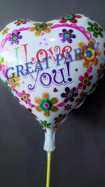 18 Inch I Love You Foil (Flower)