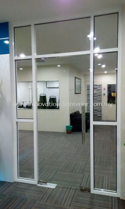 Office Clear Glass Door