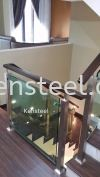 Wood handrail Glass Staircase 3 Wood handrail Glass Staircase