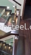 Wood handrail Glass Staircase 4 Wood handrail Glass Staircase