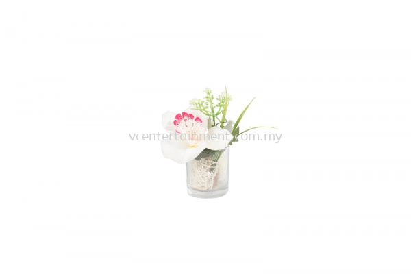 Table Deco Flower White & Pink
