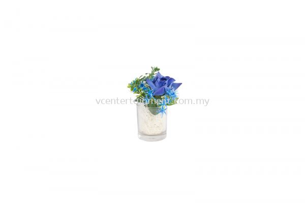 Table Deco Flower Blue