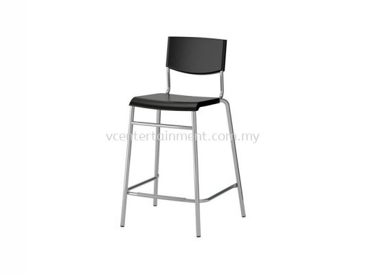 Plastic Bar Stool Black