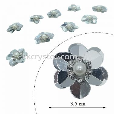 Handmake Flower, Code: 63#, Color 2#, 10pcs/pack