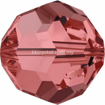 Swarovski 5000 Round Beads, 3mm, Padparadscha (542), 10pcs/pack