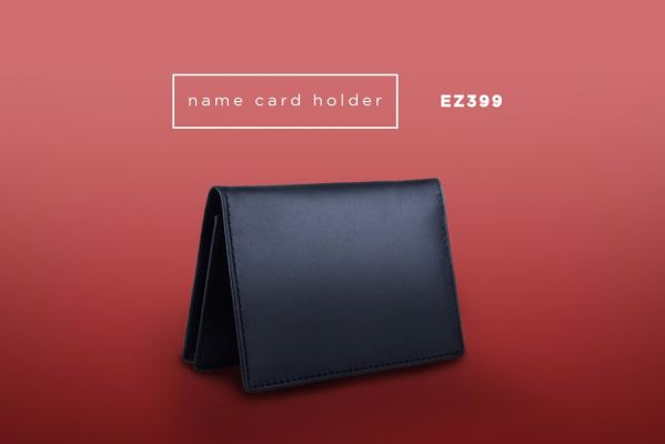 EZ399 Genuine Leather Business Card Holder
