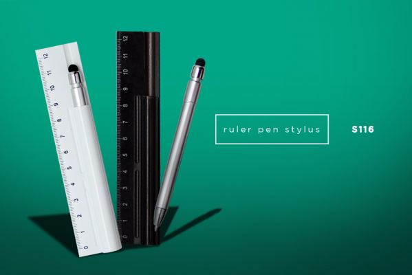 S116 3 in 1 Ruler Pen w/ Touch Screen Stylus
