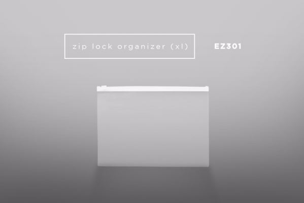 EZ301 PP Zip Lock Organizer Bag (XL)