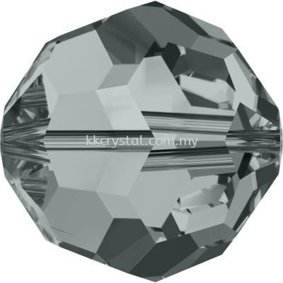 SW 5000 Round Beads, 10mm, Black Diamond (215), 2pcs/pack
