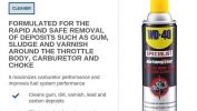 WD40 SPECIALIST AUTOMOTIVE THROTTLE BODY, CARB & CHOKE CLEANER Cleaners & Lubricants Building and Household Maintenance Solution