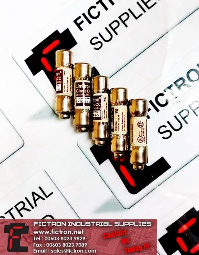 KTK-R-1-1/2 LIMITRON Class CC Current Limiting Cylinder Fuse Supply Malaysia Singapore Thailand Indonesia