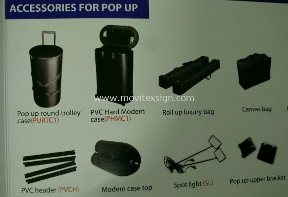 exhibition accessories for PVC storage bag