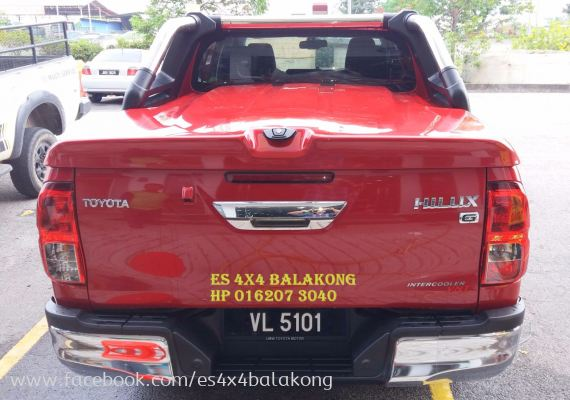 HILUX TOP UP WITH ROLL BAR