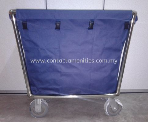 C-40A Stainless Steel Soil Linen Trolley