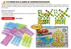 KH-AH-05 318 Pieces Play & Learn 3D Contruction Block (4 Box) Multi Life Skills