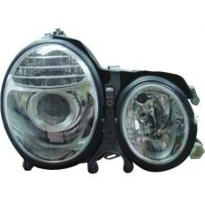 W210 99 Head Lamp Crystal Projector W/Vacuum ( W211 Facelift Look )