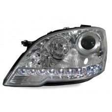 W164 09 Head Lamp Crystal Projector W/LED + Motor