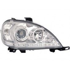 W163 Head Lamp Crystal Projetor W/LED + Motor