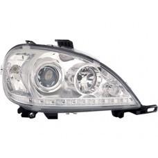 W163 Head Lamp Crystal Projetor W/LED + Motor