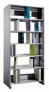 JS607 Library Double Sided Rack, C/W Steel Side Panel LIBRARY STEEL FURNITURE OFFICE FURNITURE