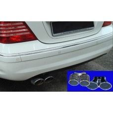 W203 Sport Pipe Chrome S/Steel