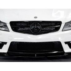 W204-FG04A  C63 Look Sport Grille All Black ( 2 pcs type )..