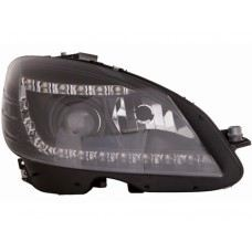 W204-07 Head Lamp Projector Black W/LED ( H7 )OR( D1S Use )