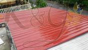 Mild Steel Metal Deck Awning Red Color Mild Steel Metal Deck Awning Awning