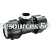 PP Female Tee PP Compression Fitting Water Distribution