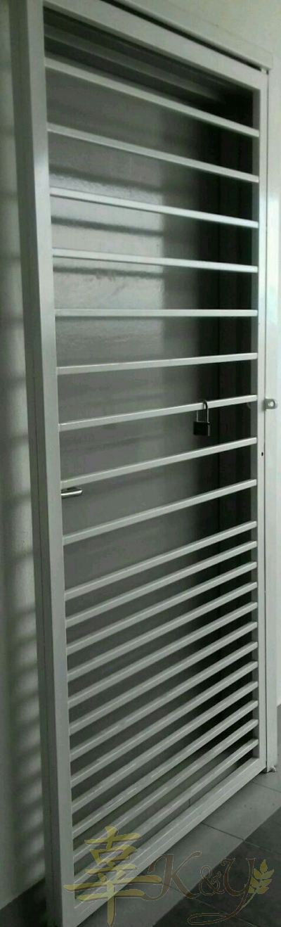 Mild Steel Sliding Door - 3 inch/2 inchi Hollow Design