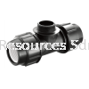 PP Male Tee PP Compression Fitting Water Distribution