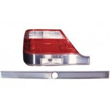 W140 95 Rear Lamp Crystal LED Clear/Red