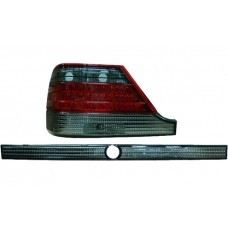 W140 95 Rear Lamp Crystal LED Smoke/Red