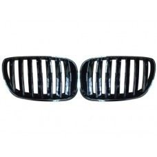 E53-FG04 04 Front Grille Black Chrome