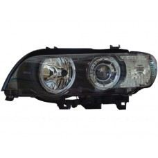 E52 00 Head Lamp Projector W/White Rim + Motor ( H7 )OR ( D2S Use )